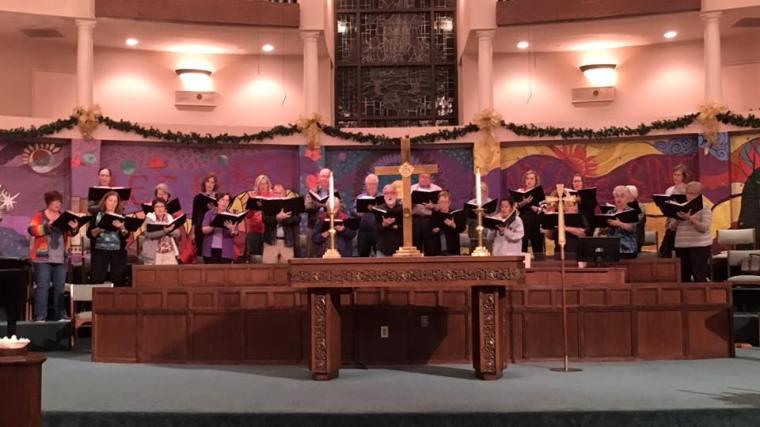 Choir at Rehearsal Dec 2015