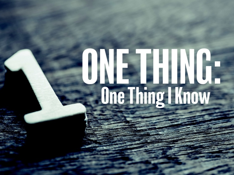ONE-THING-2019-I-KNOW